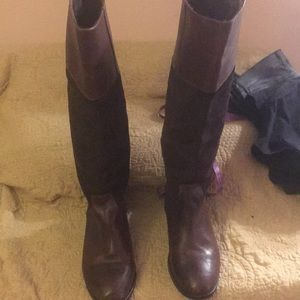 Steve Madden leather/suede equestrian style boots